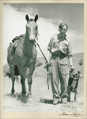 Charles Upham on his farm